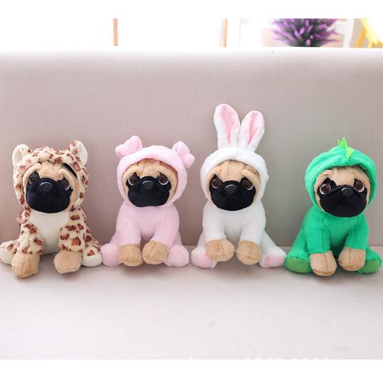 цена на The SharPei turned dog doll plush toy hat dog doll simulation belldog Pug Stuffed animals Toys For Children gift