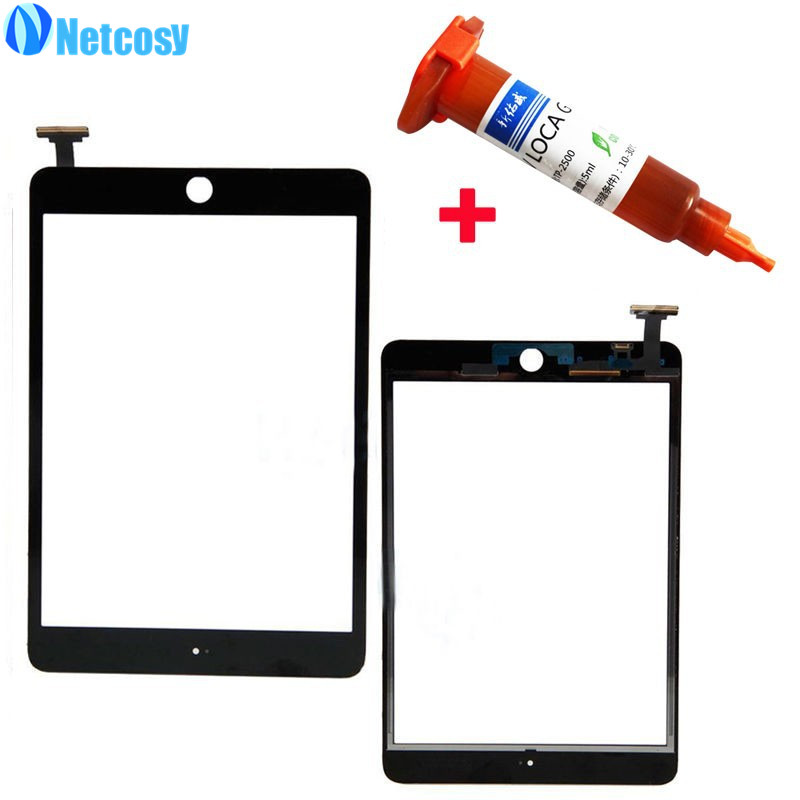 Netcosy High Quality For ipad mini 1 / 2 Black & White Touch Screen Glass Digitizer Replacement for iPad mini 1 &2 +5mL UV Glue replacement touch screen digitizer glass for lg p970 black