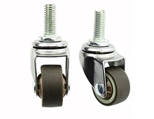 2PCS/LOT  Wheel D:25mm  M6 (1inch) Mute Universal Wheel Caster Display Cabinets Casters цены