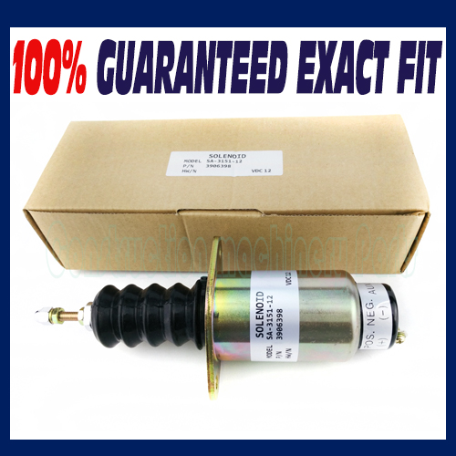 New Fuel Solenoid for Cummins Engine 6cta 8.3L 12V 3906398 Woodward SA-3151-12 fuel shutdown solenoid 1823723c91 sa 4338 24 for cummins navistar 24v