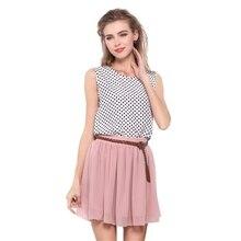 Summer Double-Layers Women Chiffon Tulle Skirts High Waist Girls Midi Knee Length Female WC0001