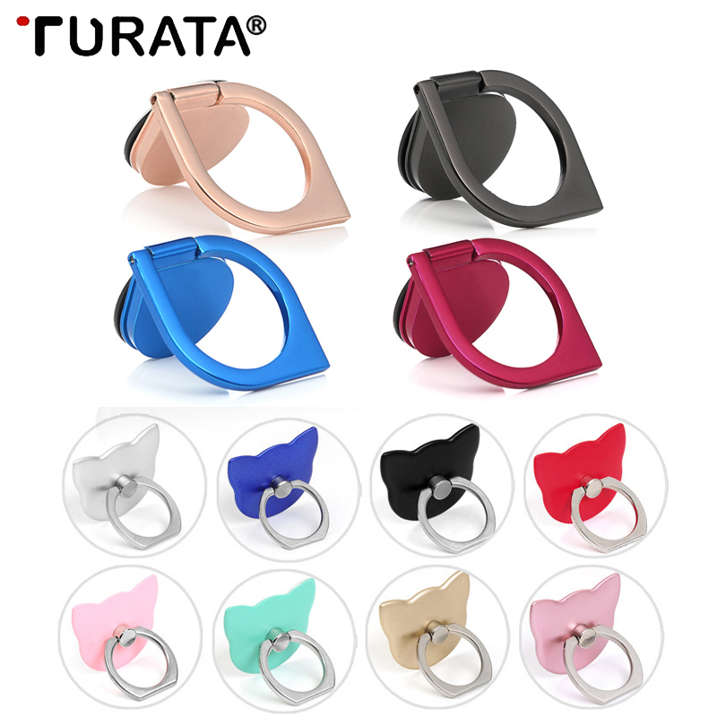 Turata Spinner Pop Finger Ring Holder Universal Mobile Phone Finger Stand Holder For iPhone Samsung Desktop Kickstand Stand