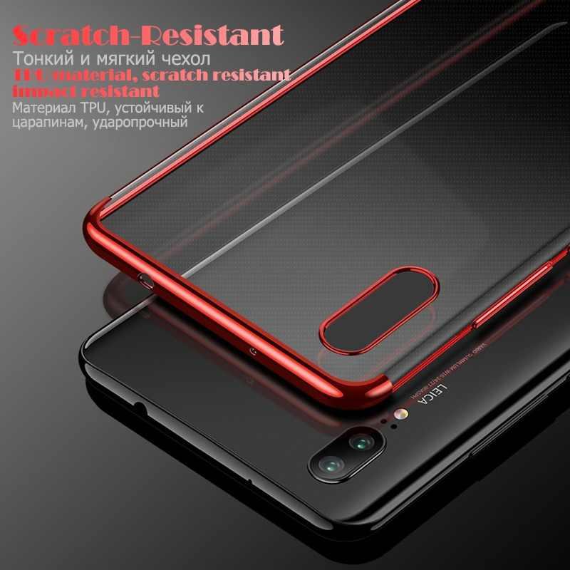 1556b896a88 Detalle Comentarios Preguntas sobre Electrochapado caso del TPU para Huawei  P20 Pro P20 Lite Deluxe en caso transparente para Huawei Mate10 Lite P10  Lite ...