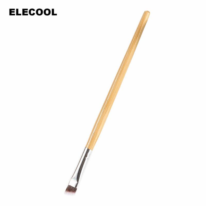 ELECOOL 1pc Professional Good Quality Elite Angled Eyebrow Brush Brown Handle Eye Liner Brow Tool Hot Sale