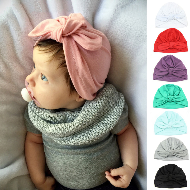 Newborn Baby Toddler Kids Boy Girl Bowknot Cute Soft Beanie Hat Warm Hat