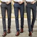 Dos homens novos Calça do Terno de Negócio dos homens Slim Fit Casuais Formais Reta calças Calças Cinza, preto, verde Frete Grátis 640