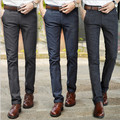 New Men's Slim Fit Casual Business Suit Pants mens Formal Straight Dress Trousers Gray, Black ,green Free Shipping 640