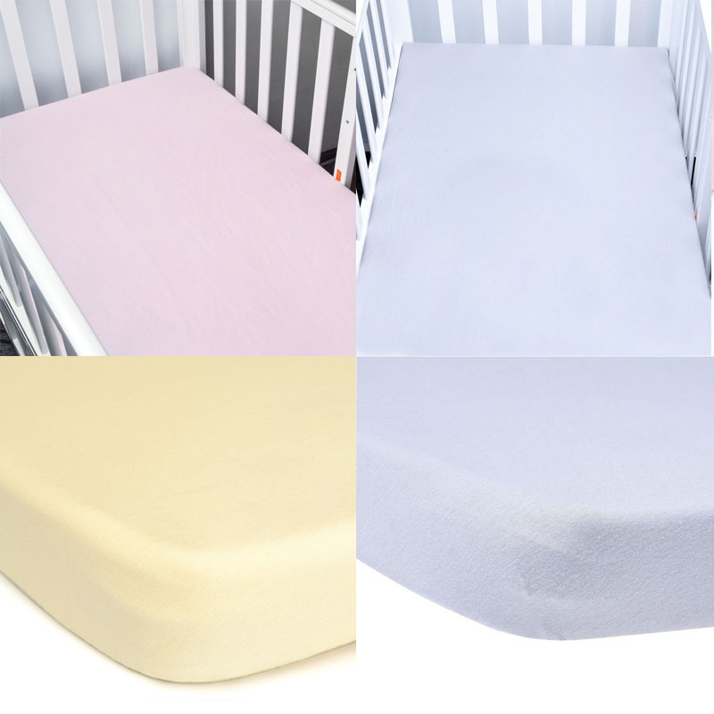 EGMAOBABY 100% Cotton Crib Fitted Sheet Soft Baby Bed Mattress Cover Protector Cartoon Newborn Bedding For Cot Size 130*70cm lacasa bedding 300 tc egyptian cotton fitted sheet 23 extra deep pocket italian finish solid queen pink