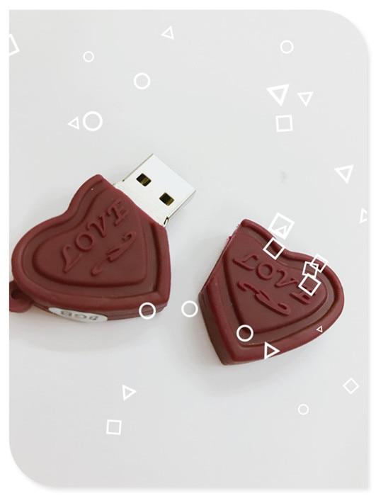 New Love Sweet Chocolate USB Flash Drive Flash Drive 4GB 8GB 16GB 32GB 64GB USB 2.0 Flash Memory Stick Flash Drive Pendrive