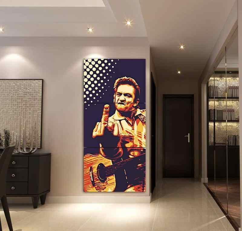 Canvas Painting Modern HD Printed Poster 3 Pieces Home Decor For Living Room Johnny Cash Wall Art Pictures Artwork Framework