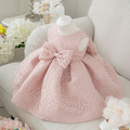 High Quality Baby Girl Dress Pink Glitz Organza Baptism Dress for Girl 1 Year Birthday Dress Baby Chirstening Dress for Infant