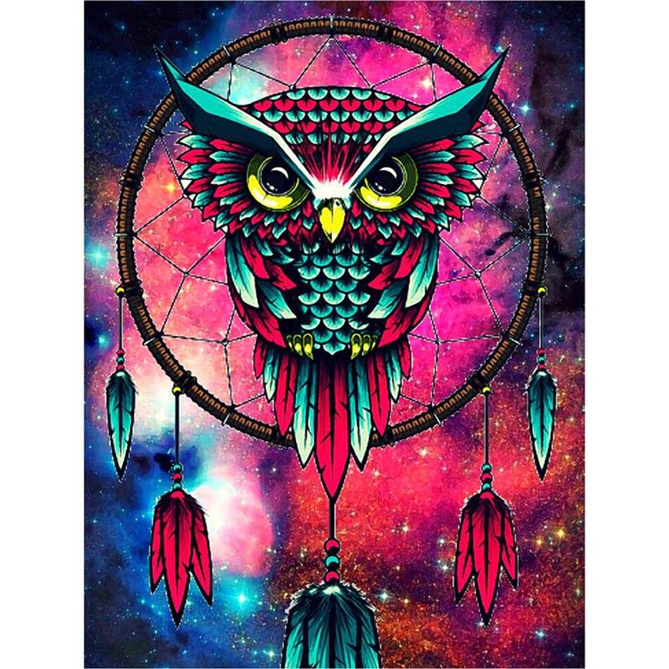 Oneroom Diamond Embroidery Owl Animal Cross Stitch Full Diamond Mosaic Animal Needlework Diamond Painting Home Decora Resin Special Buy Home & Garden