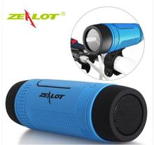 лучшая цена Zealot S1 Bluetooth Speaker Outdoor Bicycle Portable Subwoofer Bass Wireless Speakers Power Bank+LED light +Bike Mount+Carabiner