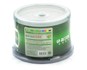 Image 3 - Double Yi 50 Pieces Ritek 25GB BD R 2 12X Speed A+ Grade Printable Blu ray Blank BDR Disc original cake box