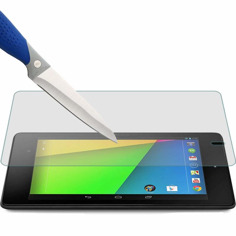 Screen Protector Tempered Glass For Google Nexus 7 1st 2nd 2 Gen I II One Two 2012 2013 7