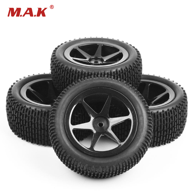 RC 1/10 Scale Off-Road Car Model Tires And Wheel26036+27013 4Pcs Toys Accessory