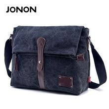 JONON Vintage Men Messenger Bag High Quality Crossbody Bag Military Canvas Shoulder Bag Fashion Scholl Bag Tote Briefcase JJ0017