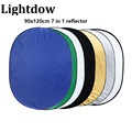 "Lightdow 90 *120cm/35.4 * 47.2"" 7 in 1 Multi Photo Ellipse Collapsible Light Reflector Portable Photography Studio Reflector"