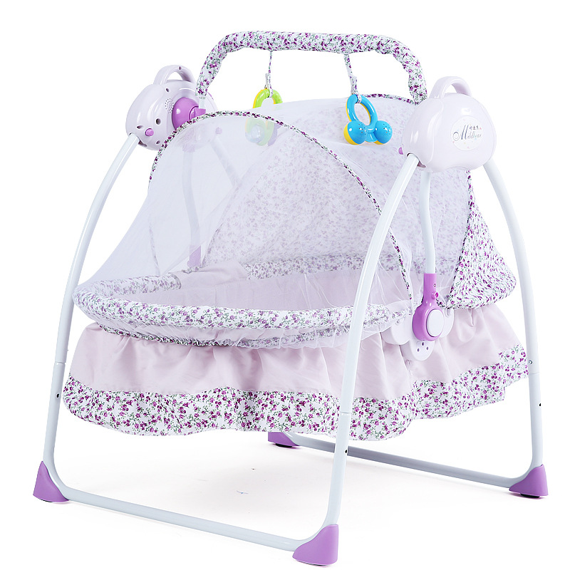 New Style Baby Bed Electric Cradle Folding Baby Cradle With Mosquito Nets Smart Multi-functional Portable Cradle For Baby
