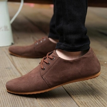 Best-Pop Nice New Men Shoes Spring&Autumn Fashional Casual Faux Suede Soft Lace Up Loafers Flat Shoes Plus Size 28-65