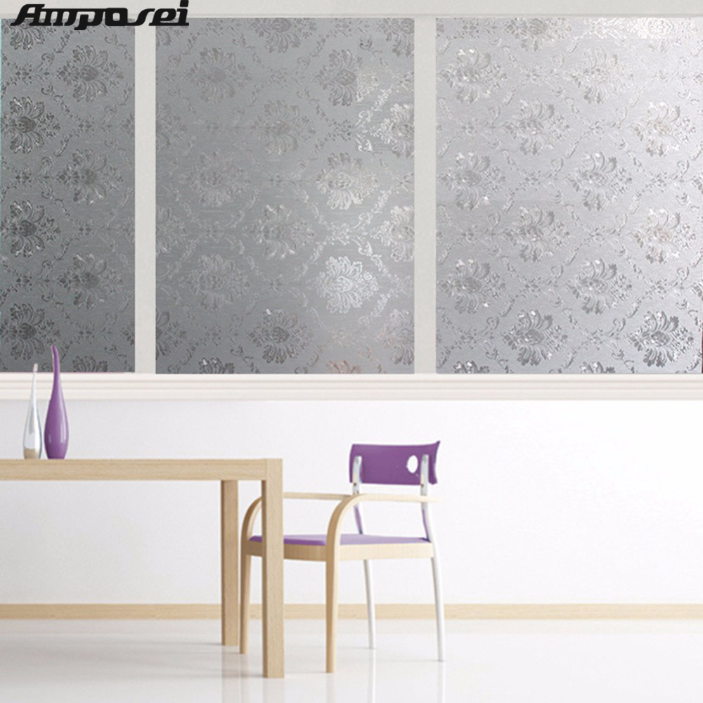 High quality opaque privacy glass window film decorative for Film plastique fenetre