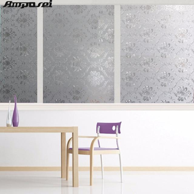High Quality Opaque Privacy Verglasung Fenster Folie Dekorative Statisch  Haftenden Fenster Aufkleber Film Wohnzimmer