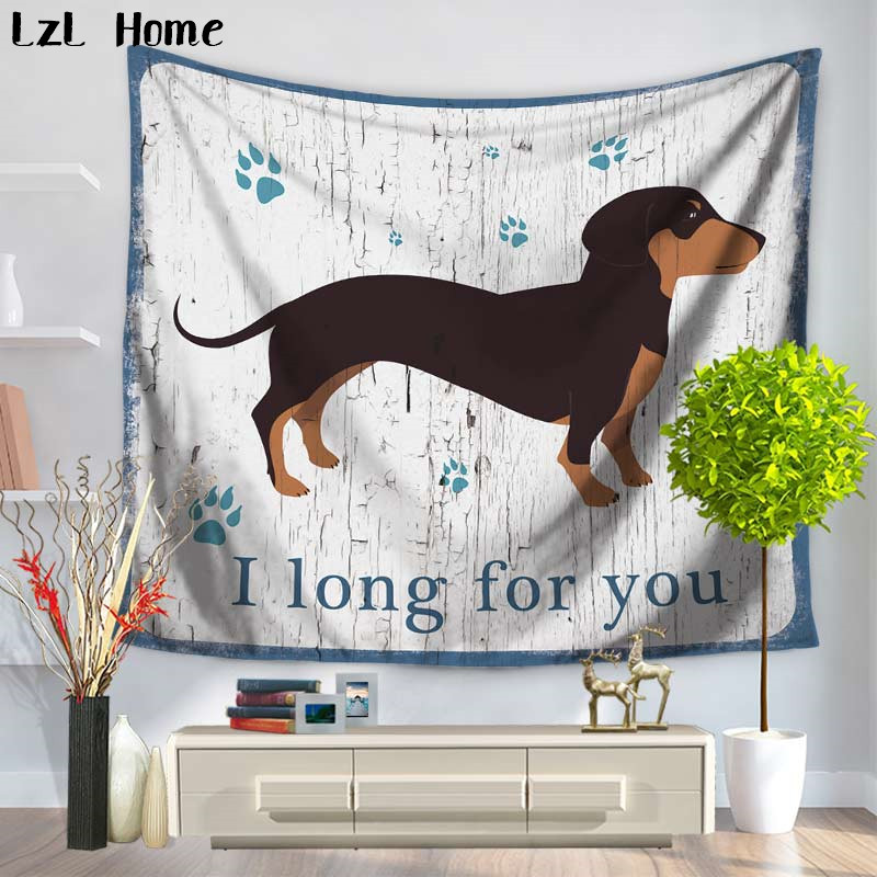 LzL Home Home Decorative Dog Mandala Animales Tapestry Factory Wholesale Custom Wall Hanging Yoga Mat Cloth Tapestry Beach Towel