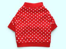 Dogs cats fashion Polka Dot t shirt clothes doggy spring summer red vest clothing puppy vests costume pet dog cat suit 1pcs XS-L