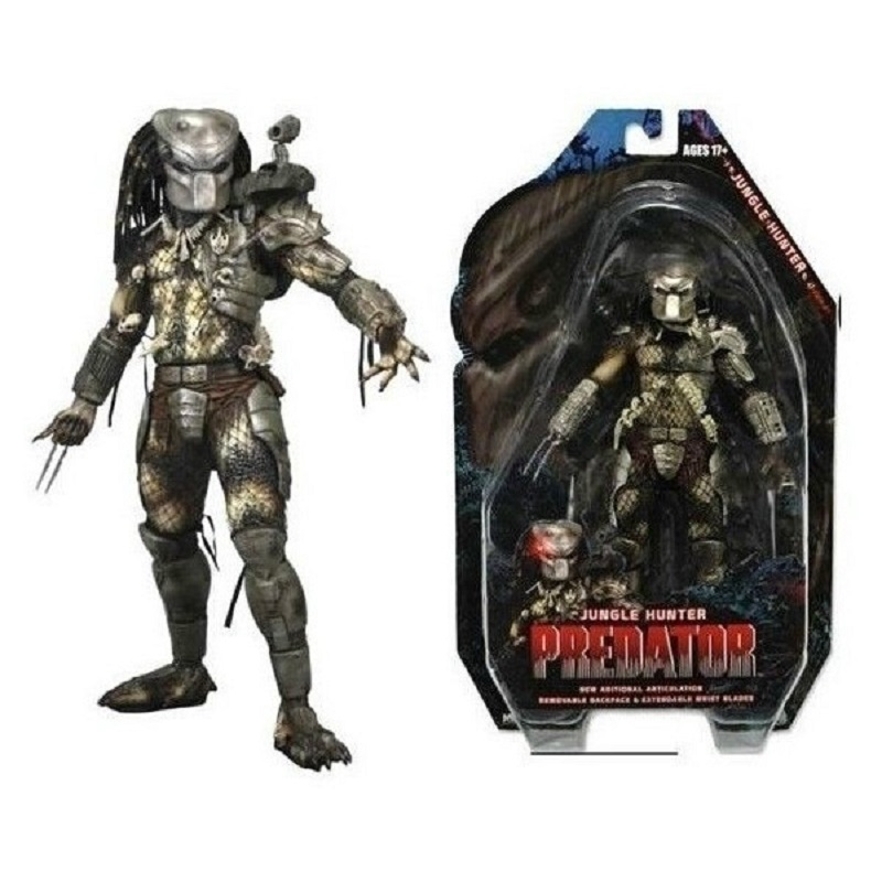 Free Shipping NECA Predator Series 8 Classic Predator 25th Anniversary Jungle Hunter PVC Action Figure Model Toy 820cm neca predator 2 pvc action figures toys collectible model dolls classic toy great gift 718cm with box free shipping