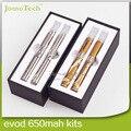 Duplo EVOD MT3 Kit Kit de presente 2.4 ml EVOD atomizador 650 mah 900 mah 1100 mah EVOD cigarro eletrônico