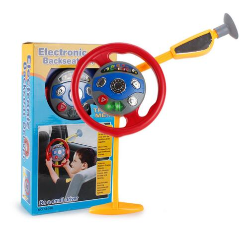 Baby car driving toys Electronic steering wheel backseat driver toys with light sound creative toys