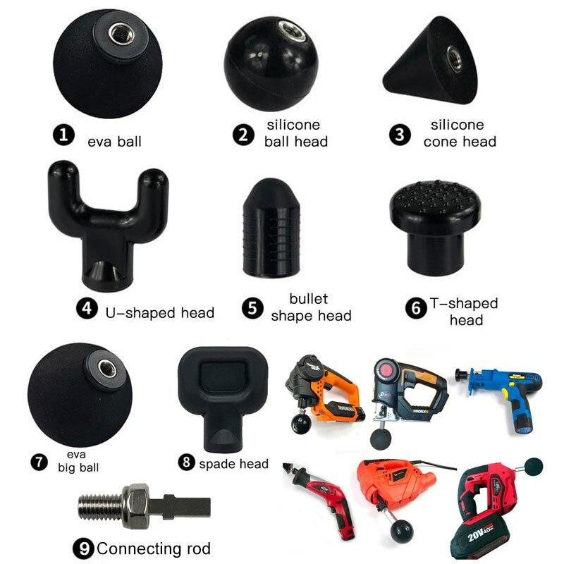 9 Categories Muscle Relaxation Massage Gun Attachments For Booster Massage Gun Accessories /Worx 540/Ryobi/Makita/Jigsaw Type E