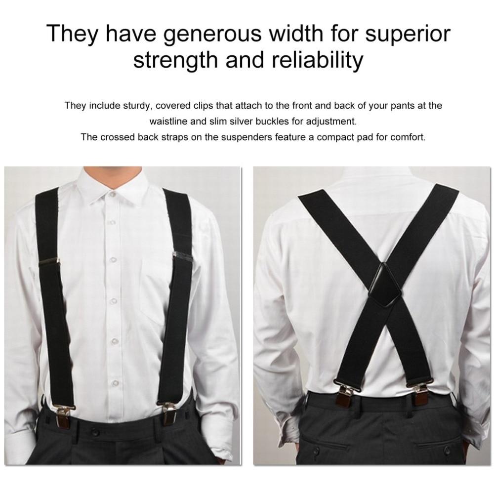 130mm Y-Shape Adjustable Durable Braces Mens Clip-on Suspenders Solid Elastic Belts Straps Braces 2019 Fashion