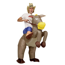 Felfújt ruha szamár ride én ragyogó party fesztivál Vicces ruha Cosplay felfújható jelmezek farsangi jelmez felnőtteknek
