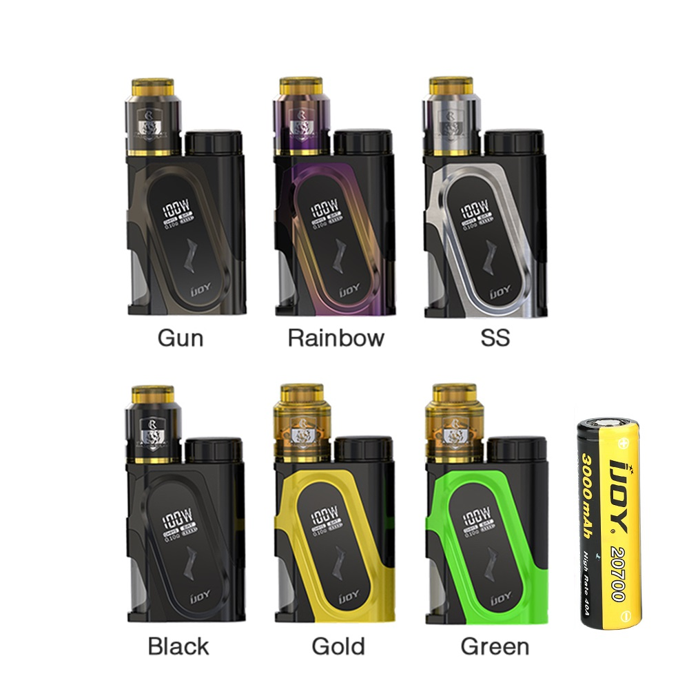 Original IJOY CAPO 100W 20700 Squonker Kit W/ 9ml COMBO RDA Triangle Capacity & 3000mAh 20700 Squonk MOD Battery E-cig Vape KitOriginal IJOY CAPO 100W 20700 Squonker Kit W/ 9ml COMBO RDA Triangle Capacity & 3000mAh 20700 Squonk MOD Battery E-cig Vape Kit