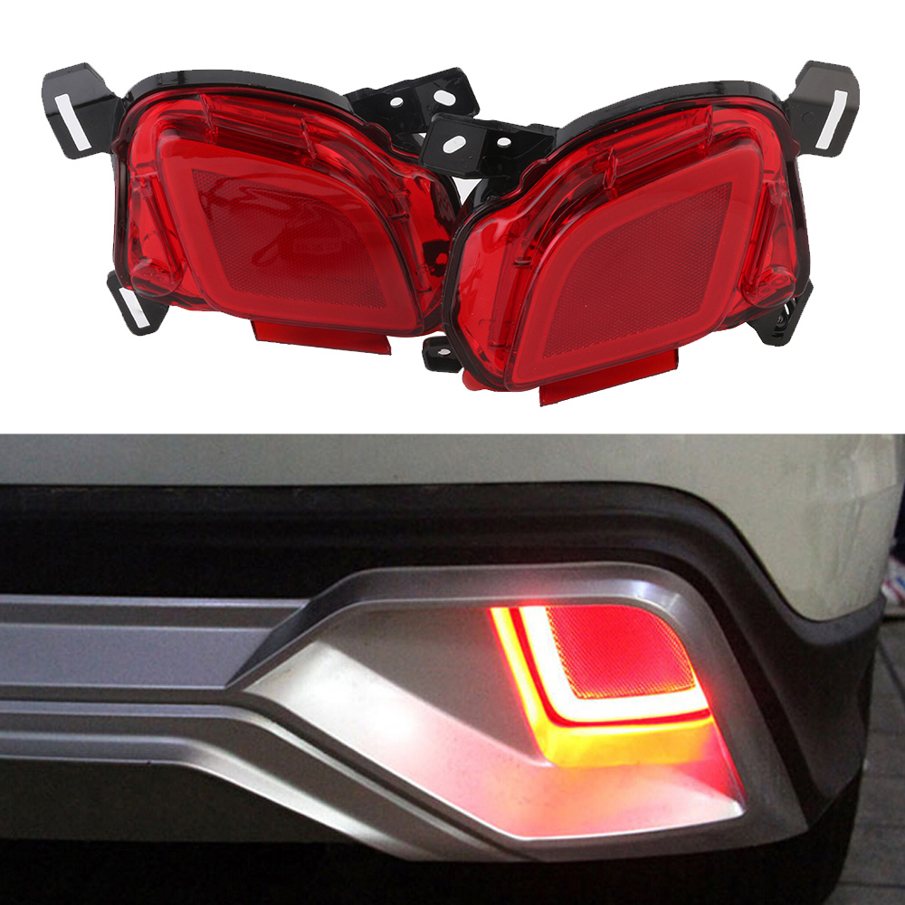 Car LED Tail Light Rear Bumper Warning Light Break Lamp For Toyota Highlander 2015-2017 Red Tail Light Free Shipping D35 dongzhen fit for nissan bluebird sylphy almera led red rear bumper reflectors light night running brake warning lights lamp