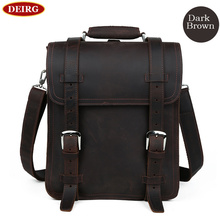 Vintage Trendy Natural Leather Men Backpack Daily Business Bag Schoolbag Fit For 14 Inch Laptop Bookbag Mochila PR091111
