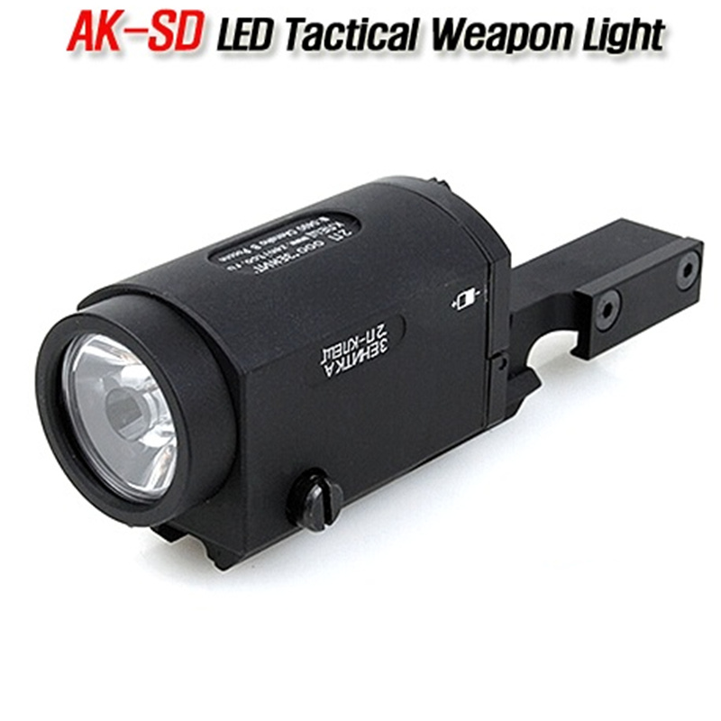 цена CQC Tactical AK-SD TWPS White LED Flashlight AK 47 74 Weapon Rifle Gun Hunting Light