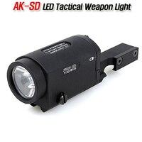 CQC Tactical AK SD TWPS White LED Flashlight AK 47 74 Weapon Rifle Gun Hunting Light
