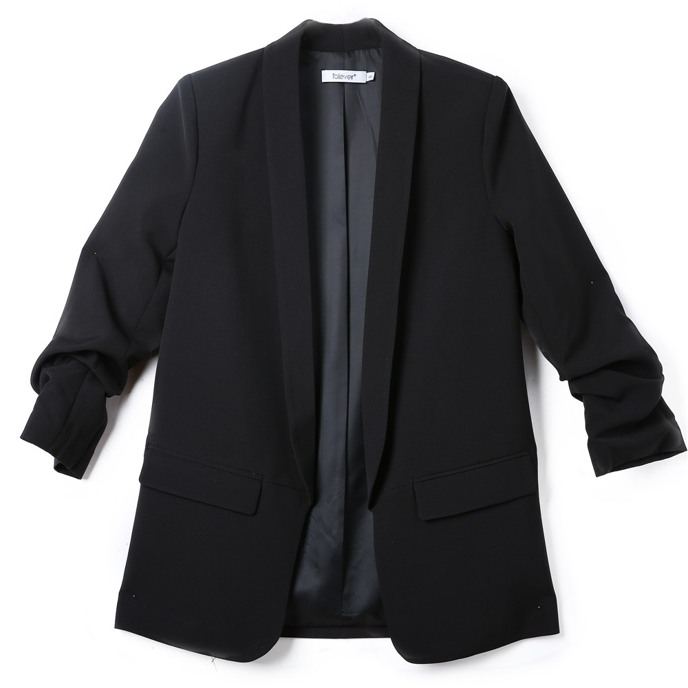 Fashion Autumn Women Blazers and Jackets Work Office Lady Suit Slim White Black None Button Business female blazer Coat Talever