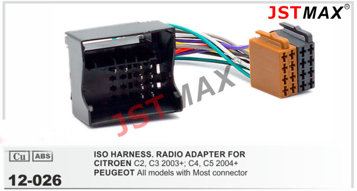 Aliexpress Com   Buy Jstmax Iso Radio For Citroen C2 C3 C4 C5 Peugeot Wire Adapter Connector
