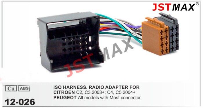 Aliexpress Com   Buy Jstmax Iso Radio For Citroen C2 C3 C4 C5 Peugeot Wire Adapter Connector