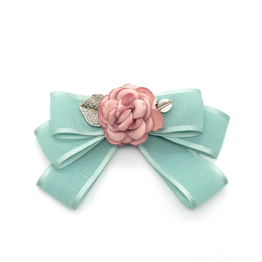 New Women bowtie solid flower Bow Tie fashion Female bowknot Girl Hotel Waitress Neck Wear flower brooch Shirt Accessories in Men 39 s Ties amp Handkerchiefs from Apparel Accessories