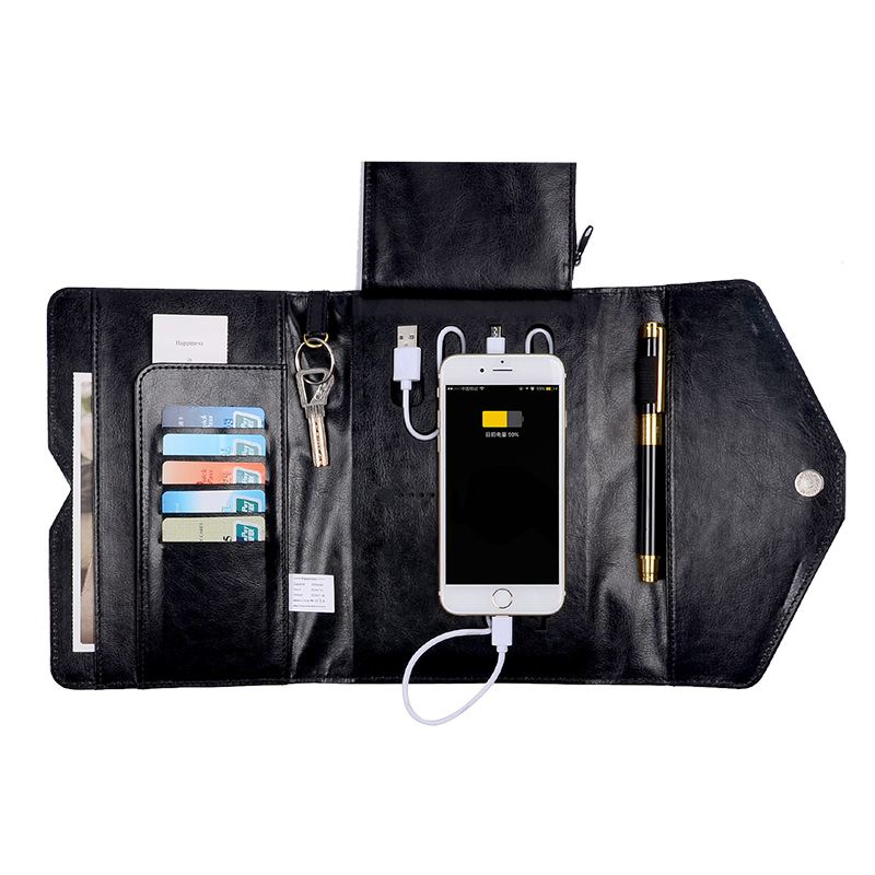 ONLVAN Manager Folders With 4000mAh Mobile Power Multifunction Cument  Holder Manager Holders Office Supply Work Accessories In File Folder From  Office ...