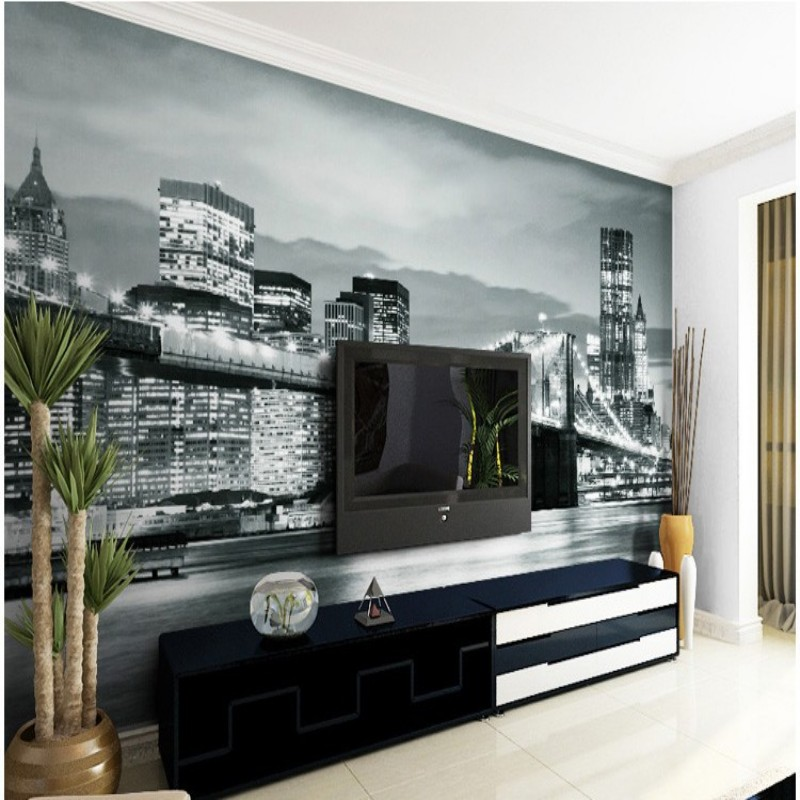 Aliexpress Custom Made Photo Wallpaper Black And White New York City Street Mural Living Room Bedroom Tv Backdrop From Reliable