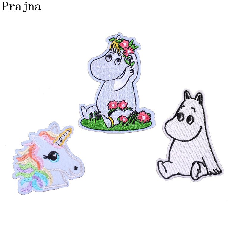 Prajna Hippo Patch Iron On Sewing Patches For Clothes Cute Cartoon Anime Applique Badges ...