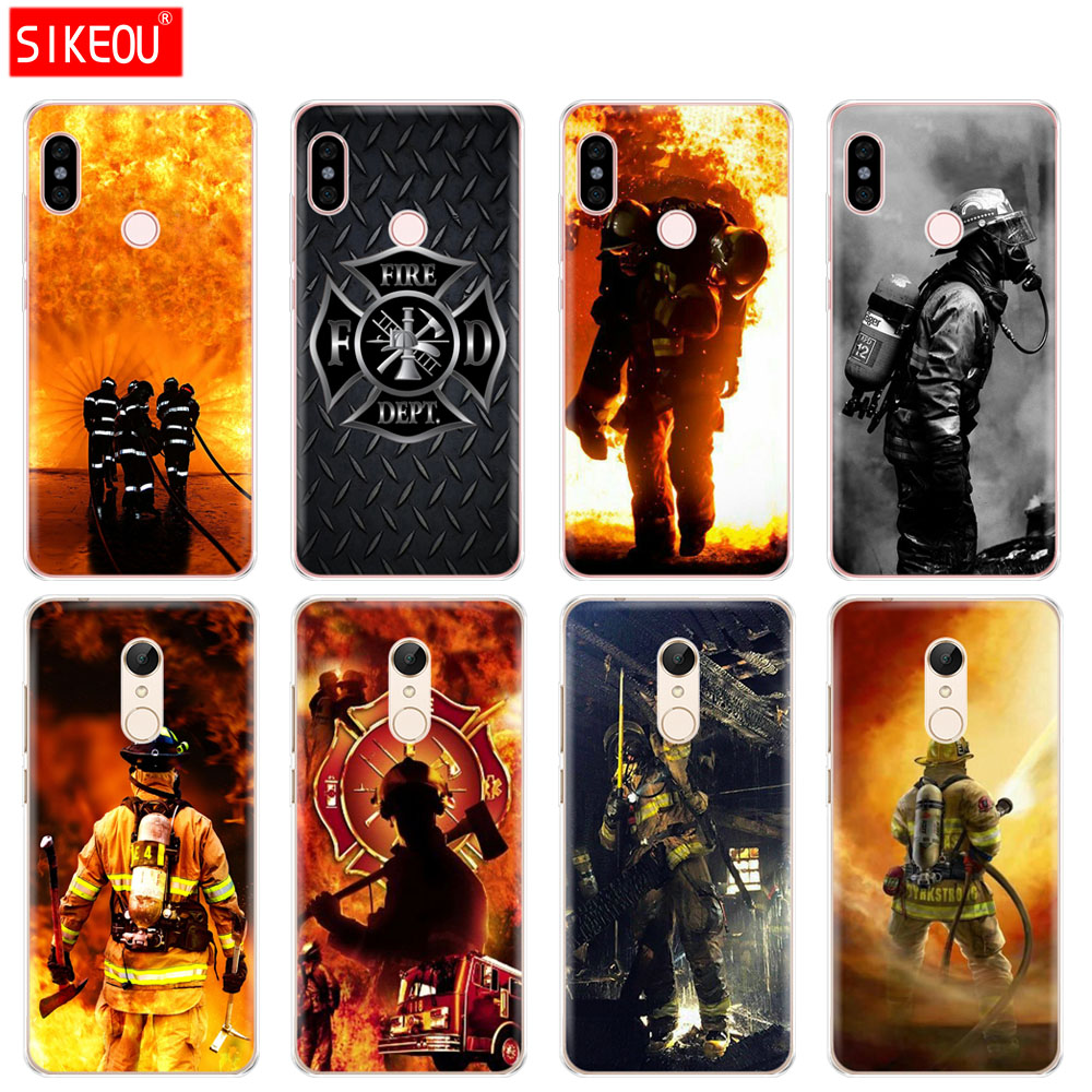 Phone Bags & Cases Half-wrapped Case On Sale Luxury Mobile Phone Shell For Xiaomi Redmi Note 2 3 3s 4 4a 4x 5 5a 6 6a Pro Plus Firefighter Fireman Fire Helmet Attractive Fashion