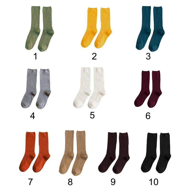 Women   Socks   Solid Color Japanese Style Thin Preppy Style Christmas   Socks   Mid-Calf Length   Socks   For Women Cute   Socks   Girls