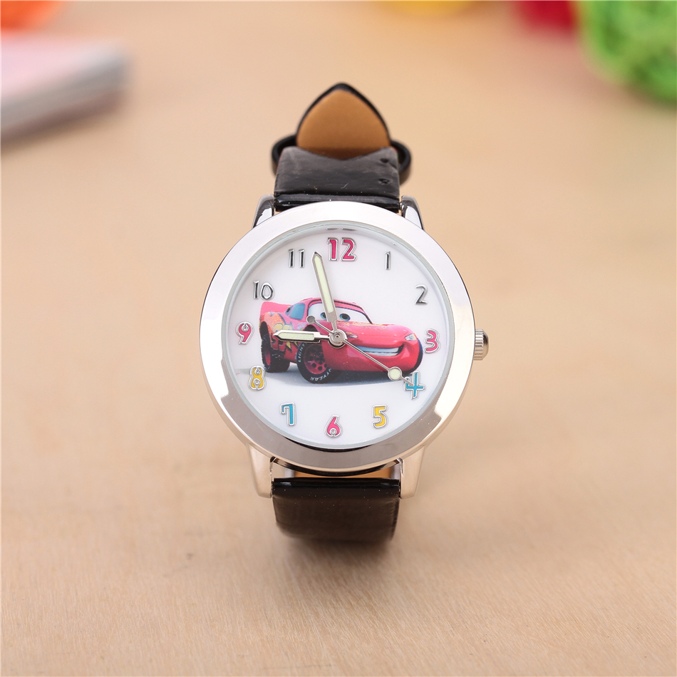 Cartoon Children Watch Fashion Lovely Cute White Kids Watches for Student Boy Girl Leather Sports Analog WristWatches Clock saat футболка с длинным рукавом для мальчика barkito трактор красная