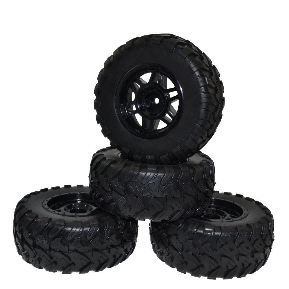RC 1:10 Short Course Truck Tires Set Tyre Wheel Rim for Traxxas Slash HPI Pro-Line Racing great hobbyking extreme short course short course brushless motor 120a 2s 4s esc speed controller for 1 8 1 10 suv car